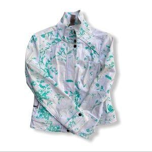 Sharon Young Spring Floral Denim Jacket